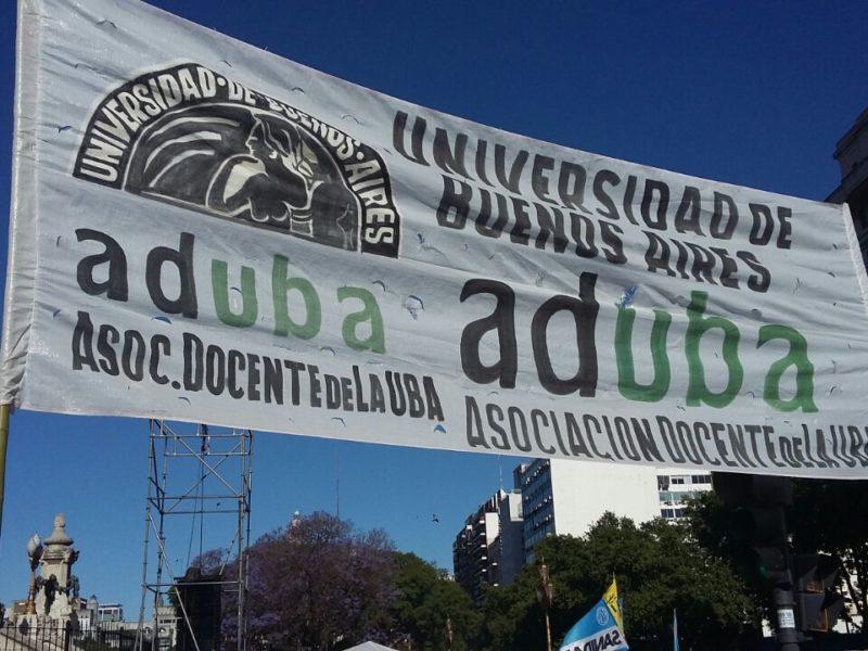 ADUBA PRESENTE EN LA MOVILIZACIÓN EN RECLAMO POR LA LEY DE EMERGENCIA SOCIAL