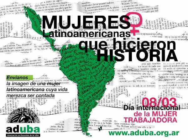 """Campaña de FEDUN """"Mujeres latinoamericanas que hicieron historia"""""""
