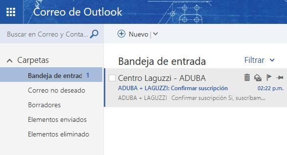 Cómo recibir el boletín en tu casilla de Outlook/Live/Hotmail