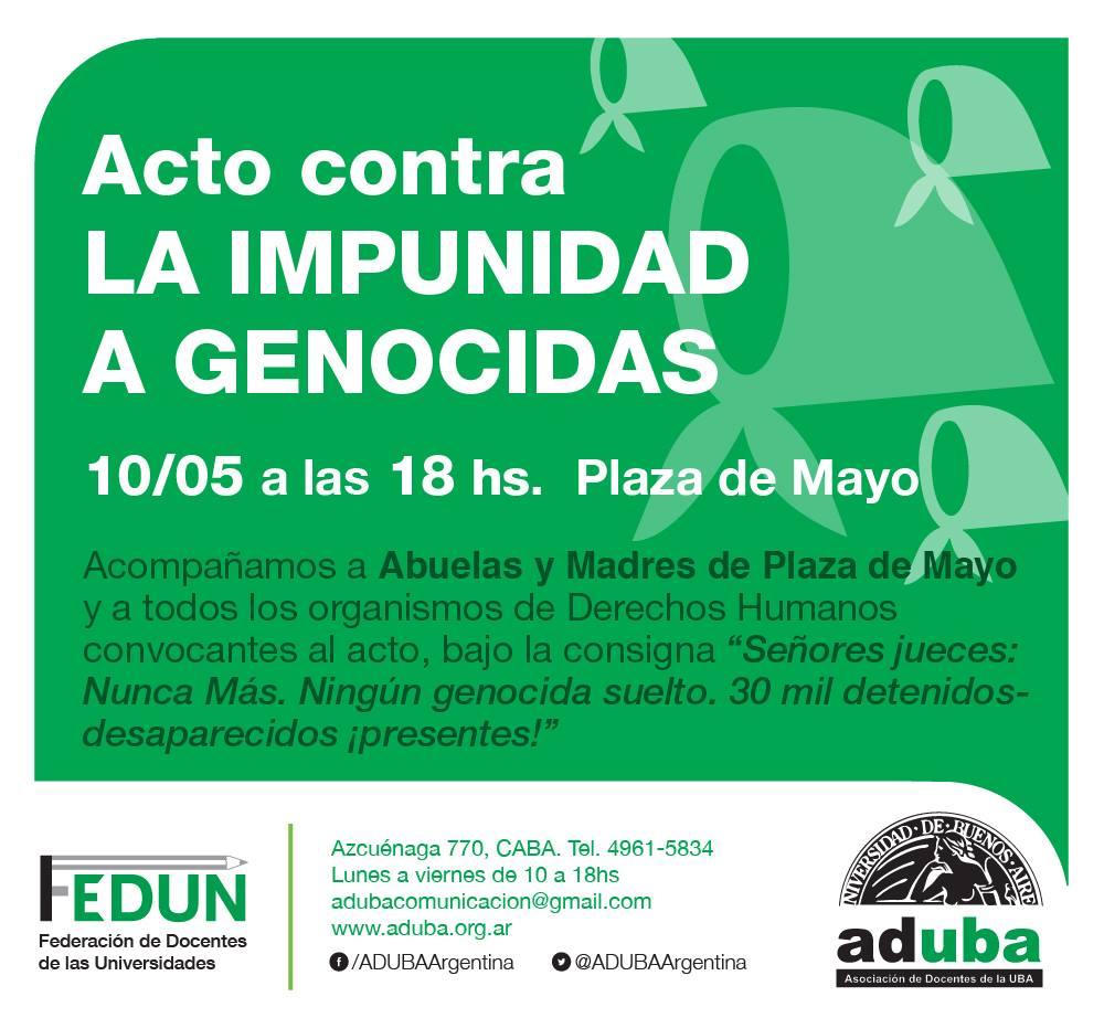 Acto contra la impunidad a genocidas