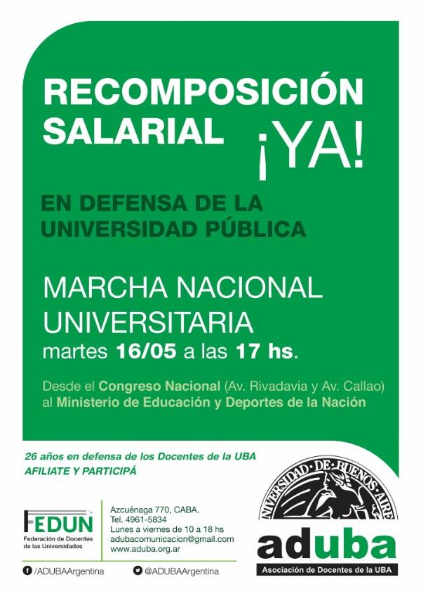 Marchamos en defensa de la Universidad Pública