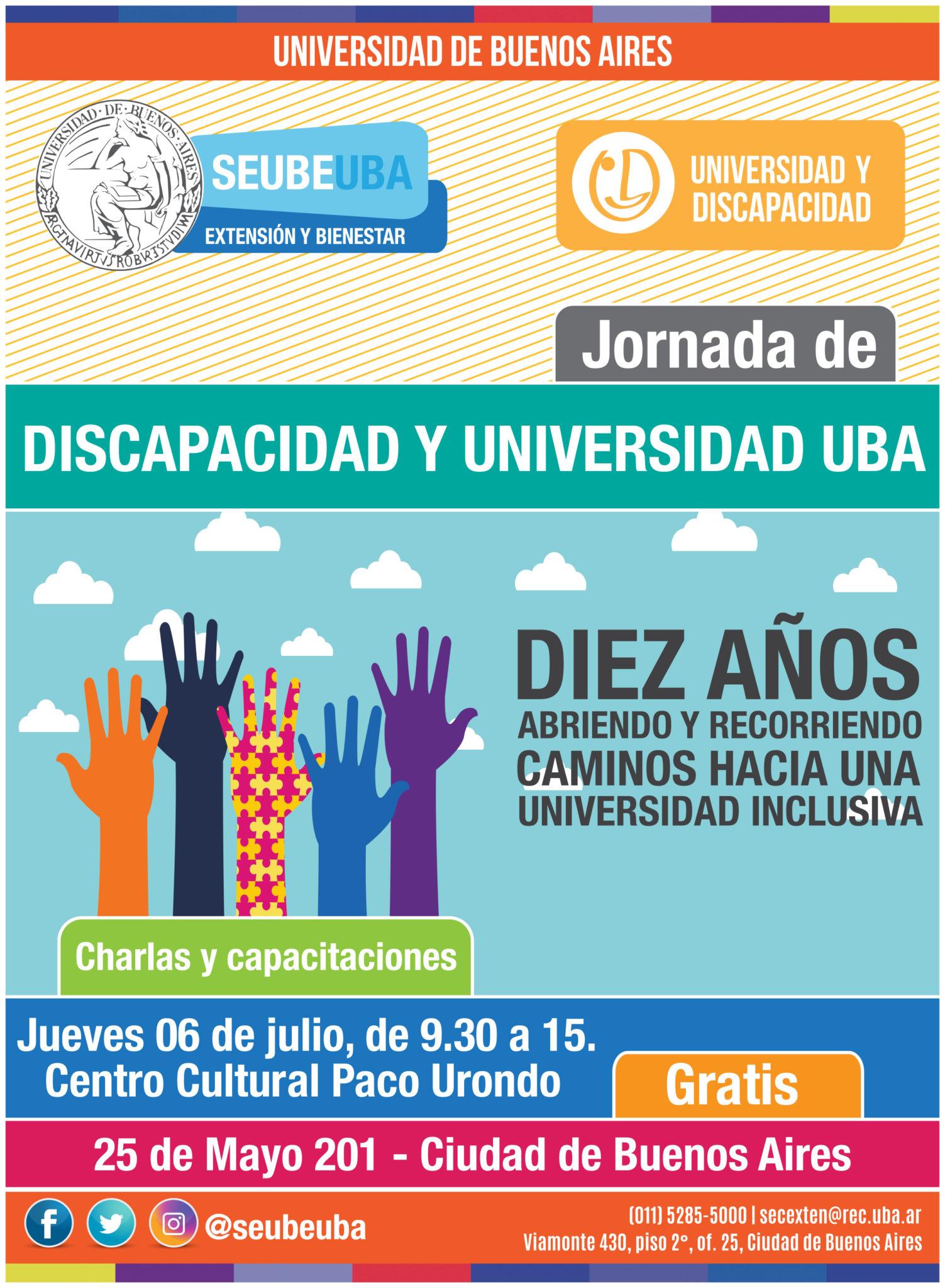 Jornada de #DiscapacidadyUniversidadUBA, a diez años de la creación del programa  abriendo y recorriendo caminos hacia una universidad inclusiva