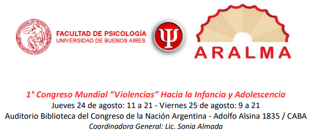 """ADUBA invita: 1° Congreso Mundial """"Violencias"""" Hacia la Infancia y Adolescencia"""