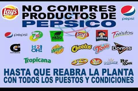 Repudiamos la represión a los trabajadores de Pepsico