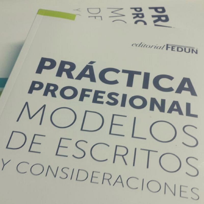 """Presentación del libro """"Práctica profesional, modelos de escritos y consideraciones"""""""