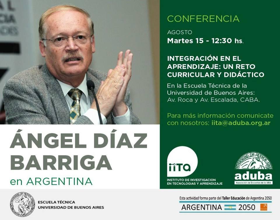 Nueva conferencia de Ángel Díaz Barriga en Argentina