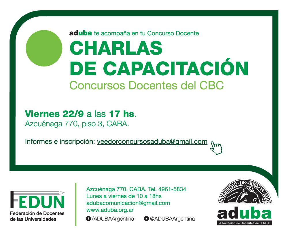 CAPACITACIÓN PARA CONCURSOS DOCENTES DEL CBC