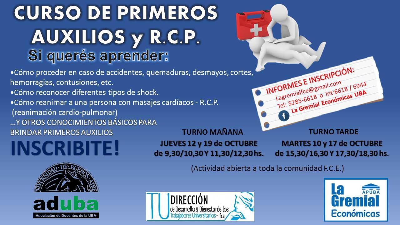 CURSO DE PRIMEROS AUXILIOS Y R.C.P