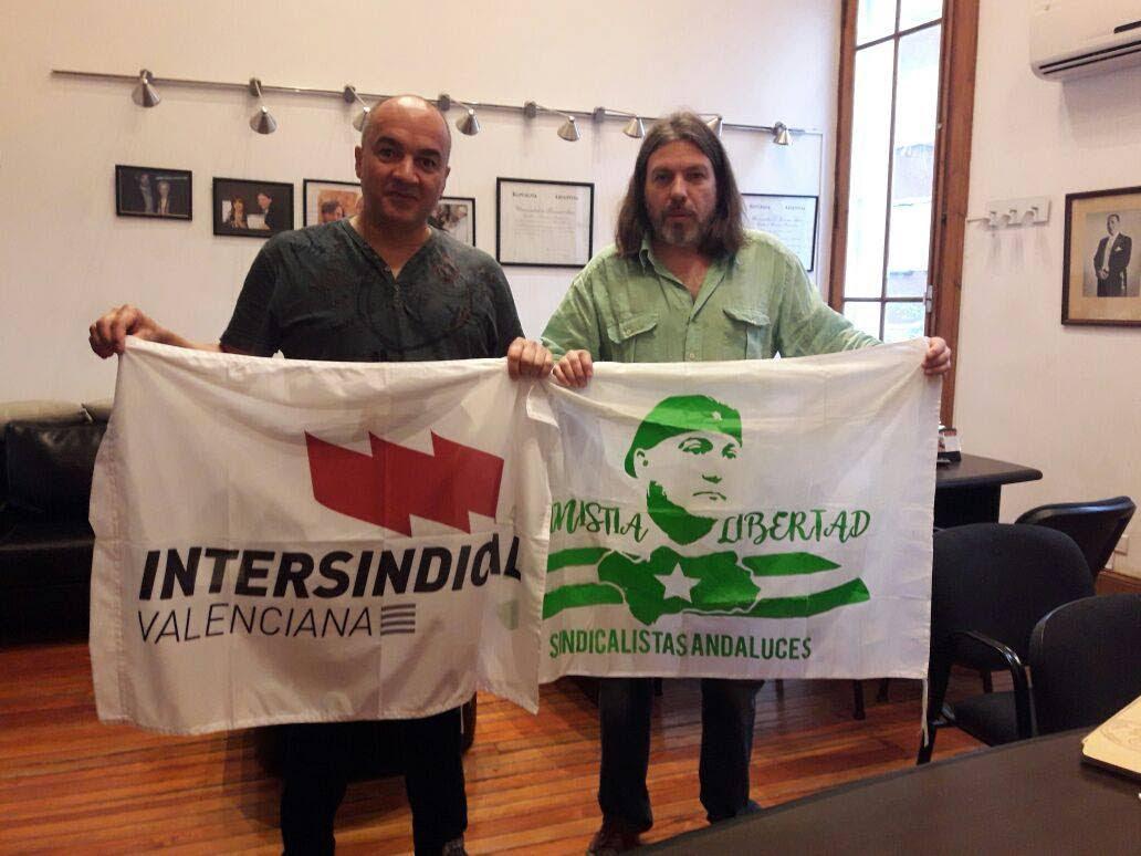 DANIEL RICCI SE REUNIÓ CON PACO GONZÁLEZ, MIEMBRO DEL SECRETARIADO NACIONAL DE LA INTERSINDICAL VALENCIANA