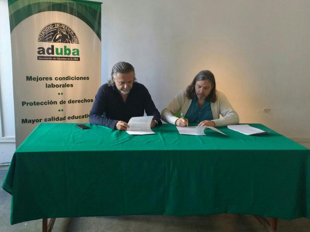 ADUBA Y APUBA FIRMARON UN CONVENIO DE COOPERACIÓN RECÍPROCA PARA TODOS LOS TRABAJADORES DOCENTES Y NO-DOCENTES DE LA UNIVERSIDAD DE BUENOS AIRES