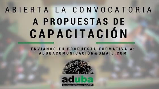 ADUBA ABRE LA CONVOCATORIA A PROPUESTAS DE CURSOS DE CAPACITACIÓN