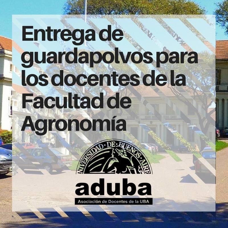 ENTREGA DE GUARDAPOLVOS PARA LOS DOCENTES DE LA FACULTAD DE AGRONOMÍA