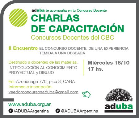 SEGUNDO ENCUENTRO DE CAPACITACIÓN PARA CONCURSOS DOCENTES CBC