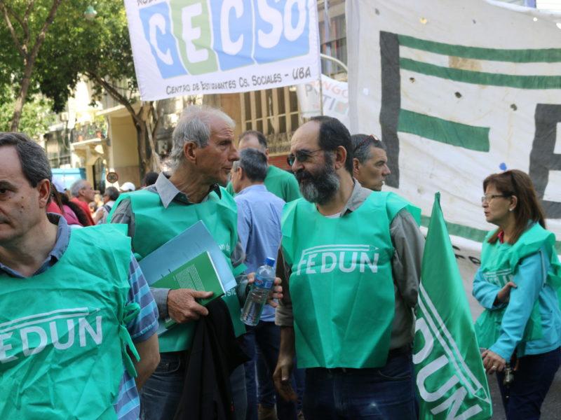 ADUBA, COMO INTEGRANTE DE LA FEDUN, MARCHÓ CONTRA LA REFORMA LABORAL Y PREVISIONAL