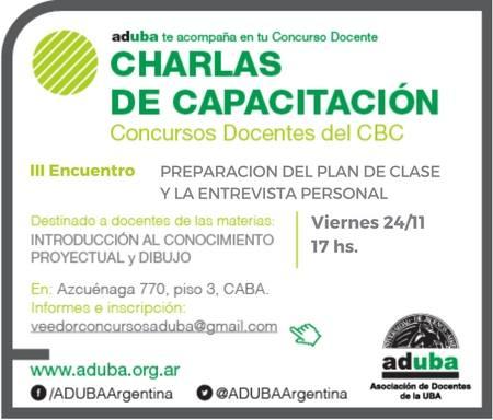 CAPACITACIÓN PARA CONCURSOS DOCENTES CBC SOBRE PLAN DE CLASE Y ENTREVISTA PERSONAL