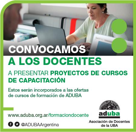 ADUBA ABRE CONVOCATORIA A PROPUESTAS DE CURSOS DE CAPACITACIÓN