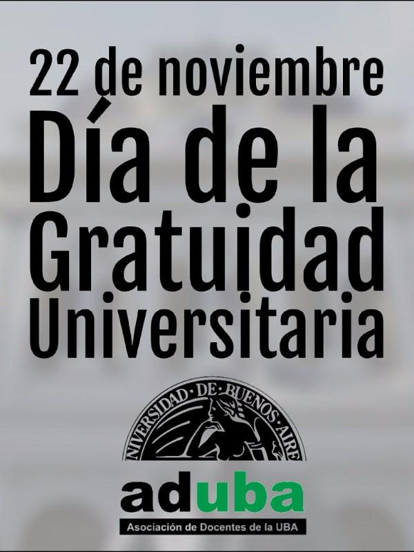 SE CUMPLIERON 68 AÑOS DE LA GRATUIDAD UNIVERSITARIA