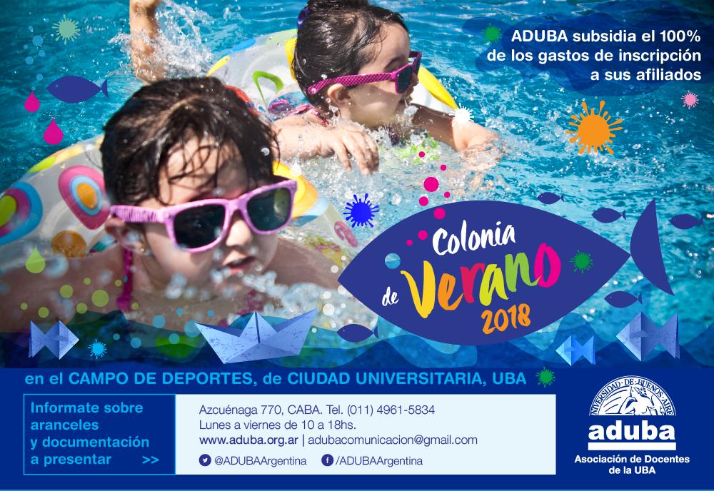 COLONIA DE VERANO UBA DEPORTES 2018