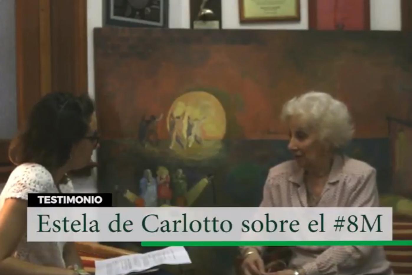 ESTELA DE CARLOTTO SOBRE EL #8M
