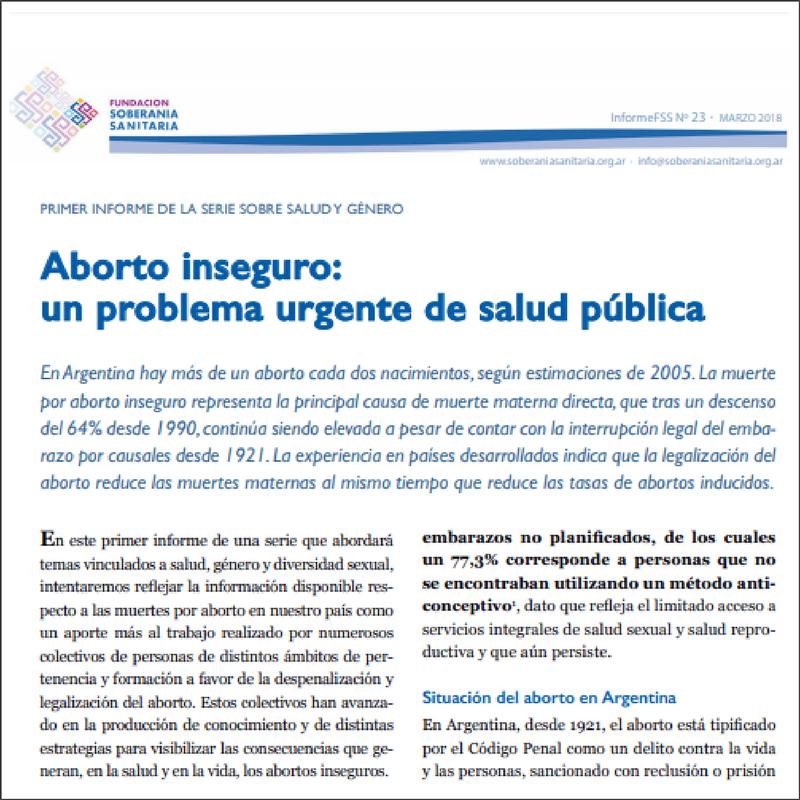 ABORTO INSEGURO: UN PROBLEMA URGENTE DE SALUD PÚBLICA