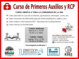CURSO DE PRIMEROS AUXILIOS Y R.C.P.