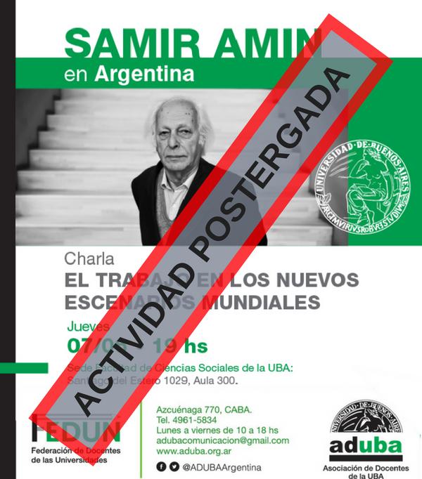 SAMIR AMIN EN ARGENTINA