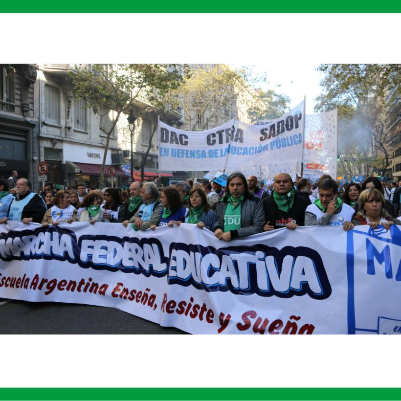 SEGUNDA MARCHA FEDERAL EDUCATIVA: EN DEFENSA DE LA EDUCACIÓN PÚBLICA, GRATUITA, INCLUSIVA Y DE CALIDAD