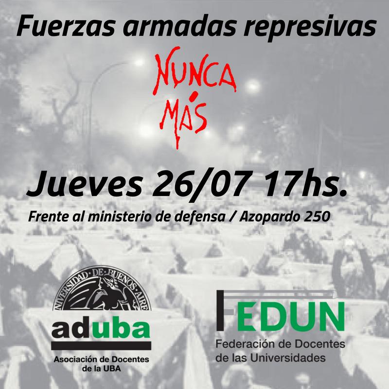 CONTRA EL USO DE LAS FF.AA EN LA SEGURIDAD INTERIOR