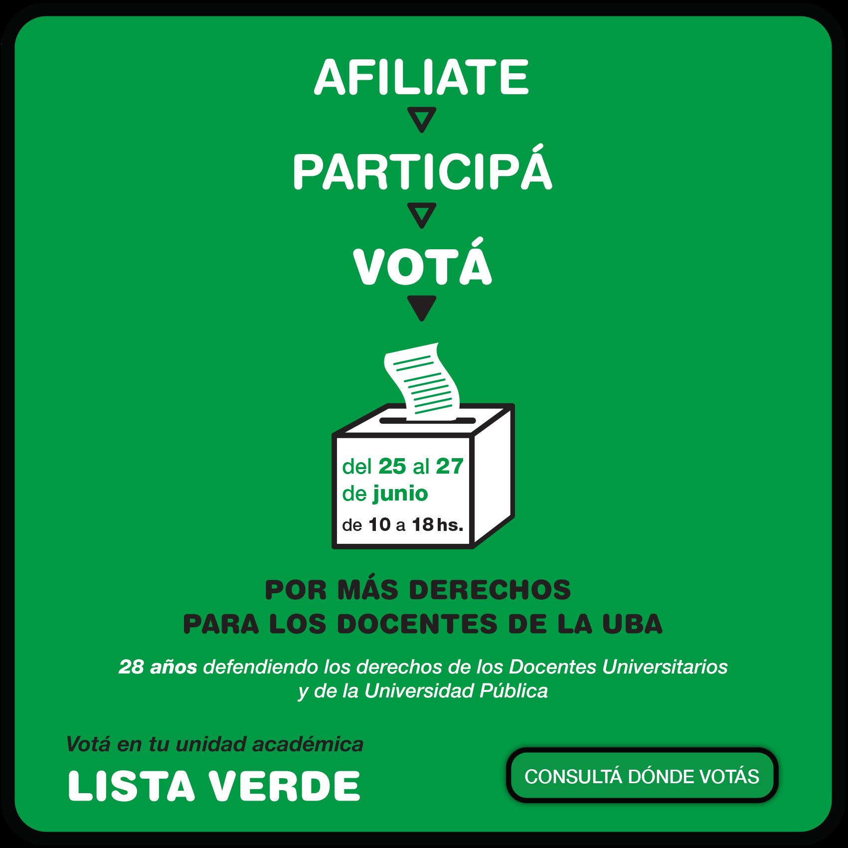 Elecciones ADUBA 2019