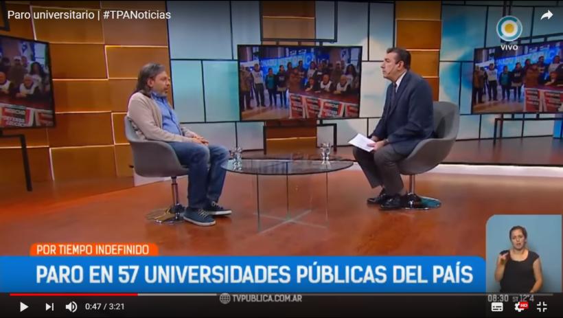 DANIEL RICCI SOBRE EL PARO UNIVERSITARIO EN LA TV PÚBLICA
