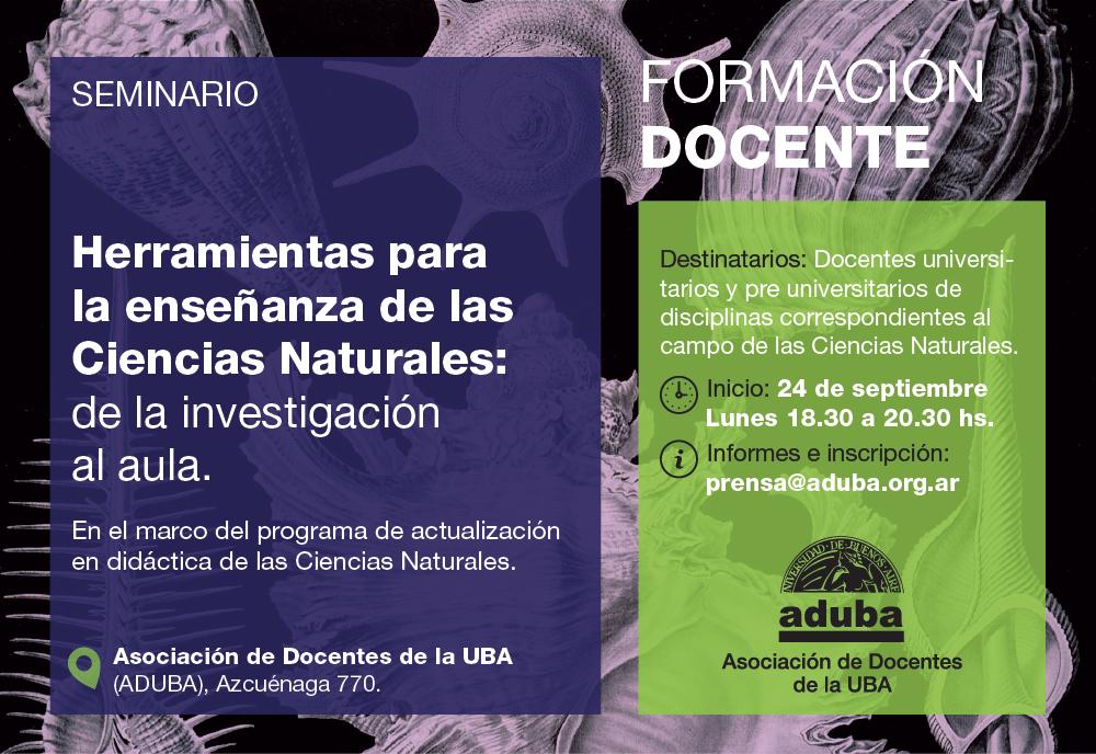 PROGAMA DE ACTUALIZACIÓN EN DIDÁCTICA DE LAS CIENCIAS NATURALES