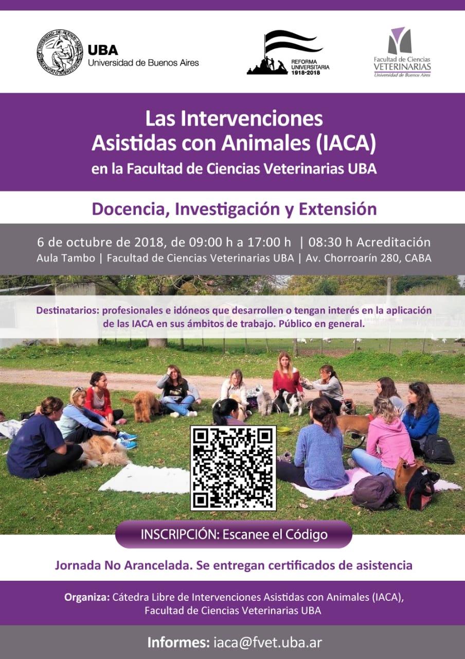 JORNADA: Las Intervenciones Asistidas con Animales (IACA) en FVET