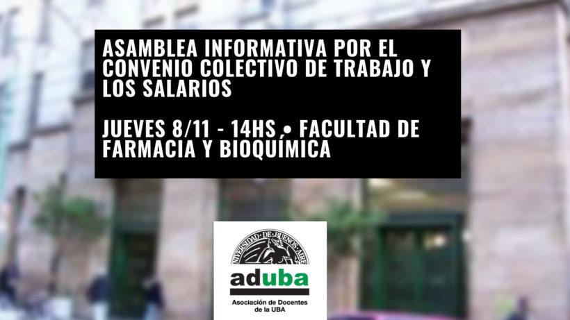 ASAMBLEA INFORMATIVA POR EL CONVENIO COLECTIVO DE TRABAJO Y LOS SALARIOS