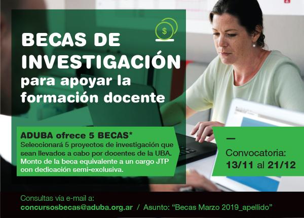 Llamado abecaspara proyectos deinvestigación (13/11 al 21/12)