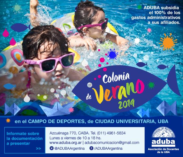 Comienza de la colonia de verano de la UBA 2018-2019