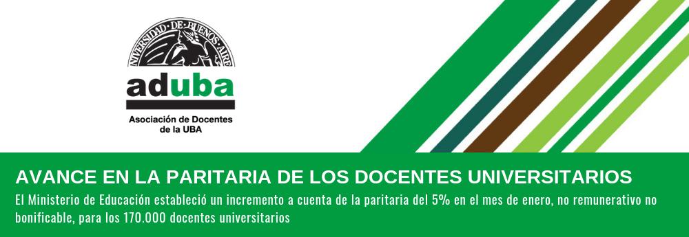 AVANCE EN LA PARITARIA DE LOS DOCENTES UNIVERSITARIOS