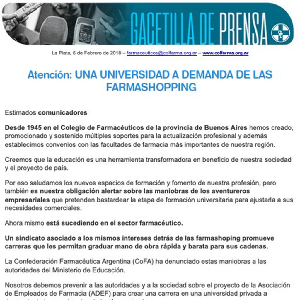 Farmashopping contra la calidad educativa