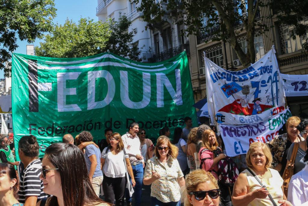 Contra el ajuste en educación: alto acatamiento al Paro General Educativo y multitudinaria movilización a Plaza de Mayo