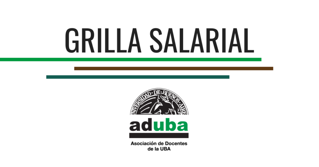 Grilla Salarial Docentes Universitarios