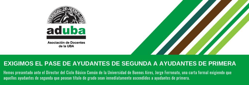 EXIGIMOS EL PASE DE AYUDANTES DE SEGUNDA A AYUDANTES DE PRIMERA