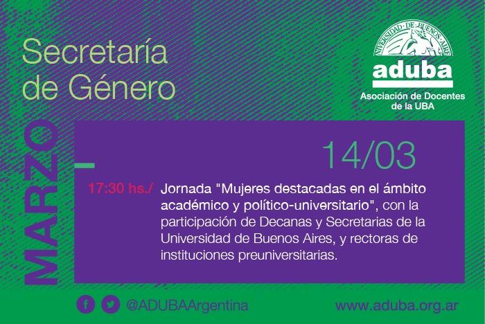 Jornada con mujeres destacadas en la vida académica e institucional
