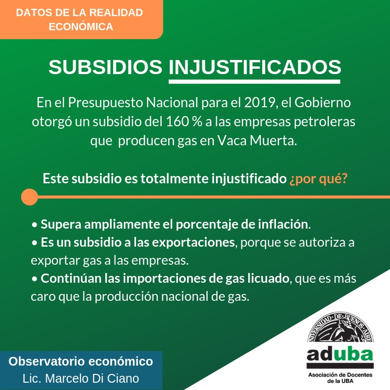 Subsidios injustificados