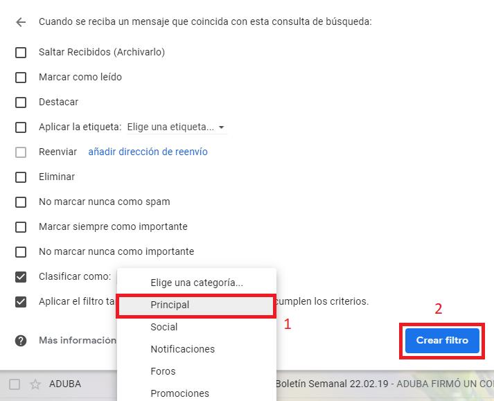 Cómo recibir el boletín en tu casilla de Gmail