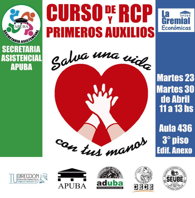 Curso de RCP y Primeros Auxilios abierto a toda la comunidad de la Universidad de Buenos Aires.
