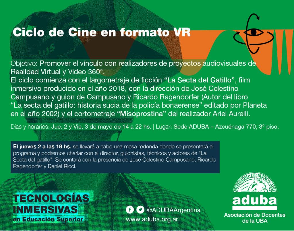 Ciclo de Cine en Formato VR