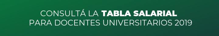 Consultá la tabla salarial para docentes universitarios 2019