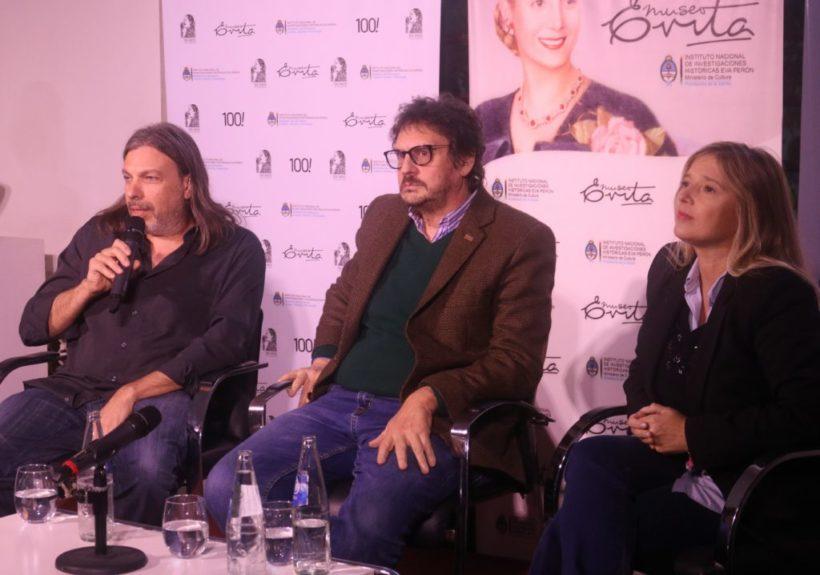 Junto a Felipe Pigna, la FEDUN presentó el documental «Eva Perón. Jirones de su vida»