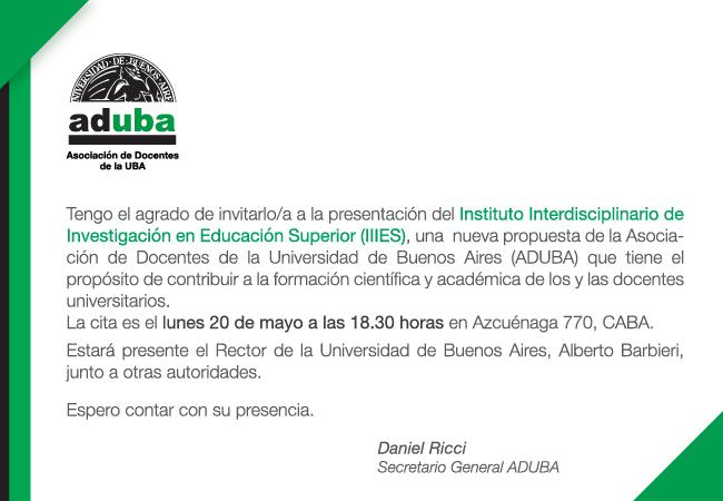 Presentación del Instituto Interdisciplinario de Investigación en Educación Superior – IIIES