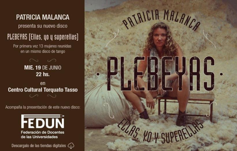 Te invitamos a ver a Patricia Malanca en el Torquato Tasso