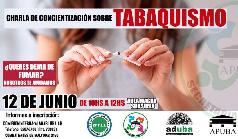Charla de concientización sobre tabaquismo